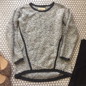 Loft Longer Black & White Sweater